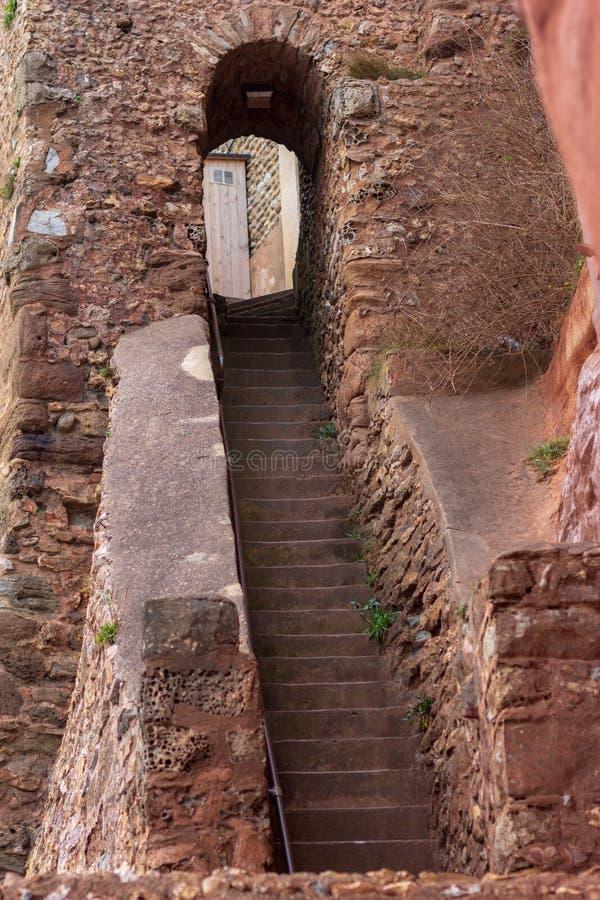 Vieil escalier à l'échelle de Jacob dans Sidmouth photo libre de droits