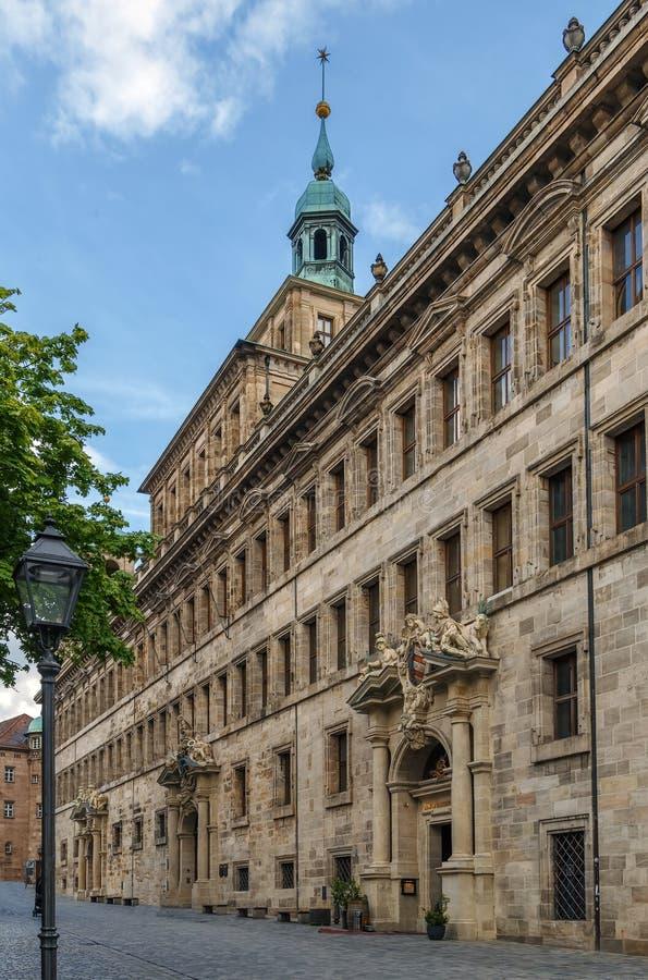 Vieil hôtel de ville de Nuremberg, Allemagne photo stock
