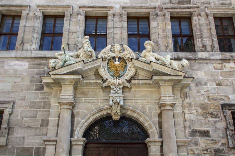Vieil hôtel de ville de Nuremberg, Allemagne, 2015 photos libres de droits