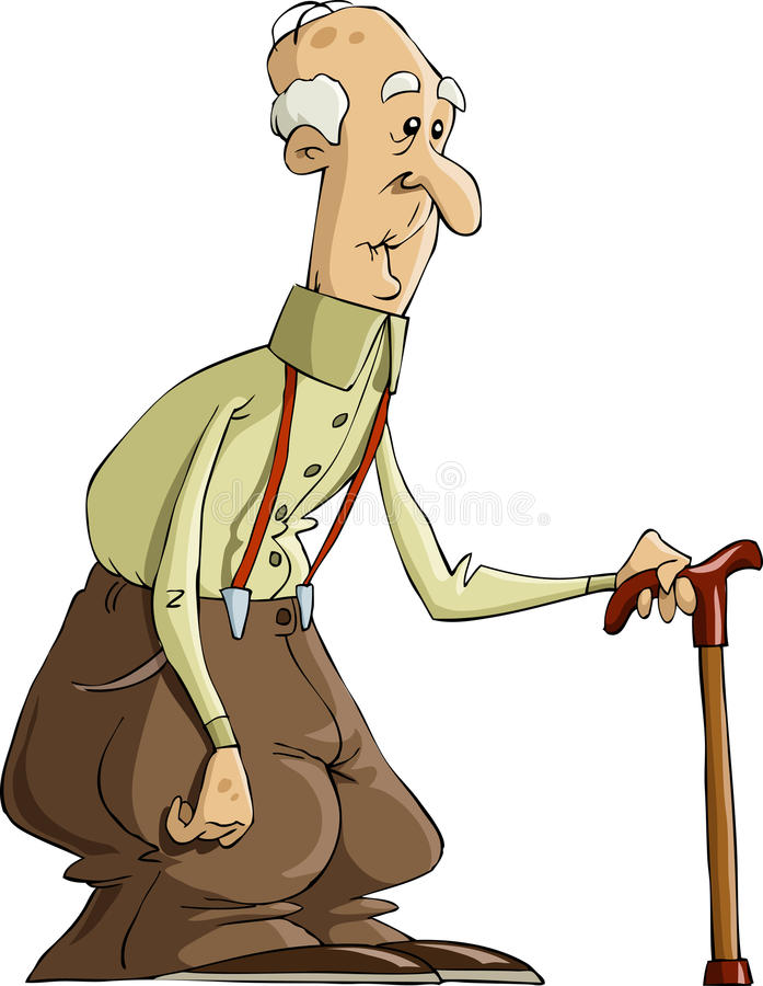 Vieil homme illustration de vecteur