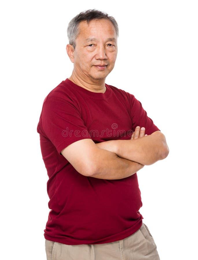 Vieil homme aîné image libre de droits