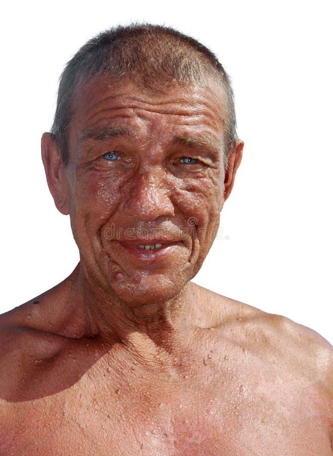 Vieil homme bronzé photo libre de droits