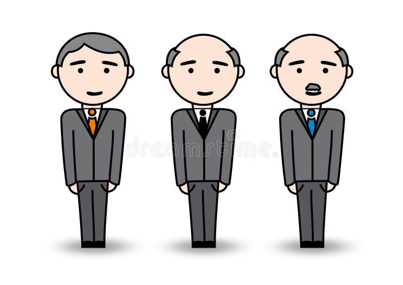 Vieil homme d'affaires illustration libre de droits