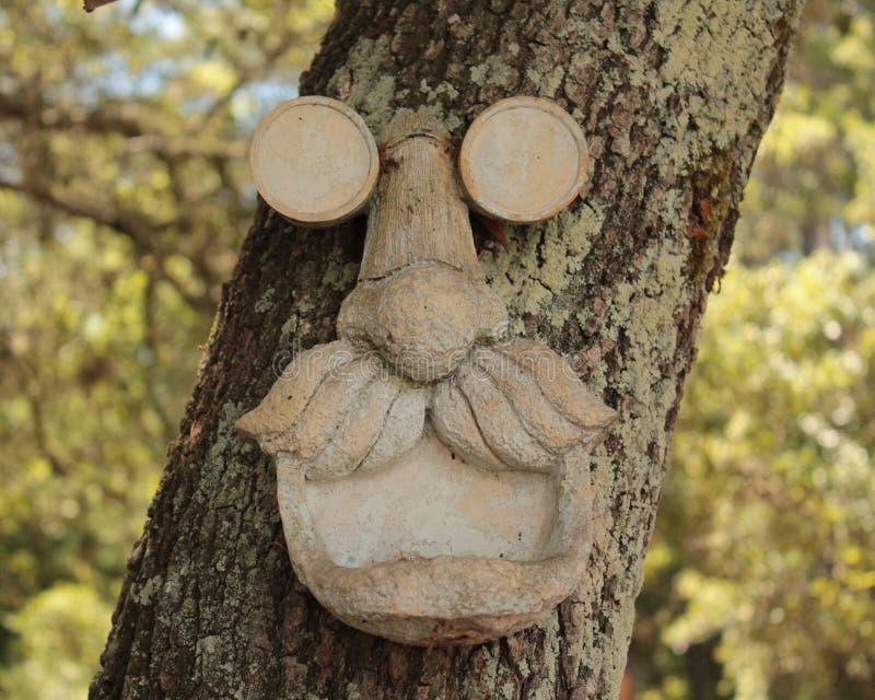 Vieil homme dans l'arbre photographie stock