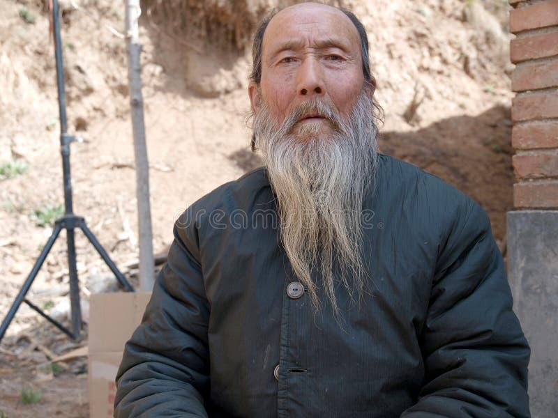 Vieil homme de l'Asie image stock