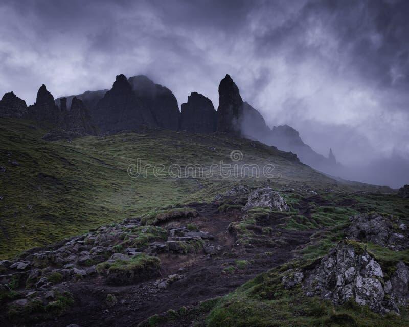 Vieil homme de Storr, ?le de Skye, Ecosse image libre de droits