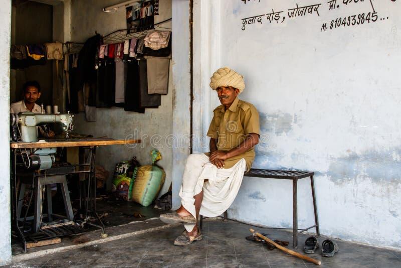 Vieil homme en Inde image stock