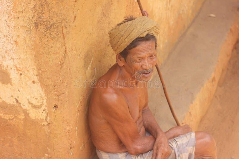 Vieil homme - Sri Lanka images libres de droits