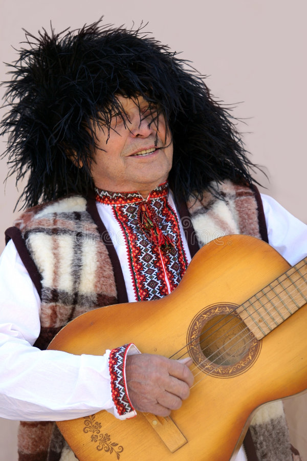 Vieil homme ukrainien images stock