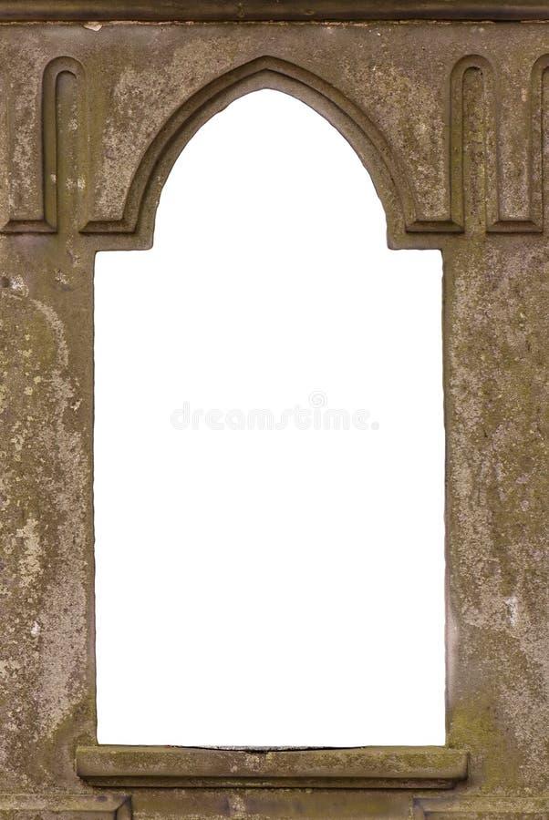 Vieil hublot blanc de château images libres de droits