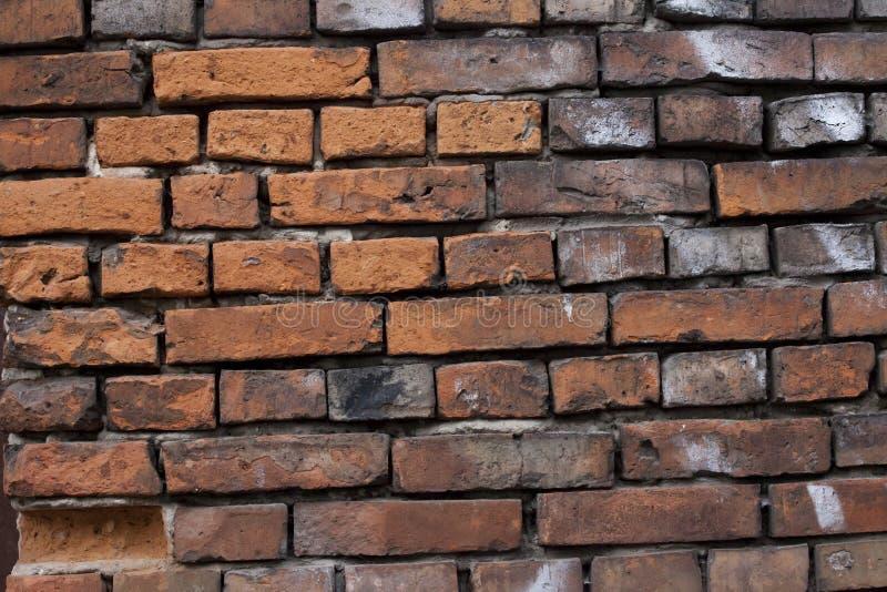 Vieil idéal de mur de briques rouges pour le fond photographie stock