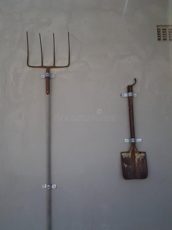 Vieil instrument s de jardin image libre de droits