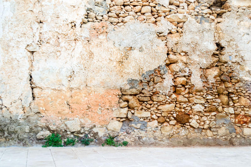 Vieil intérieur de mur en pierre de vintage photographie stock