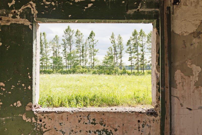 Vieil intérieur gris abstrait photographie stock