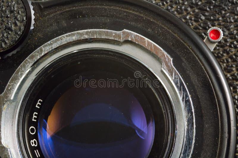 Vieil objectif de caméra de photo photo stock