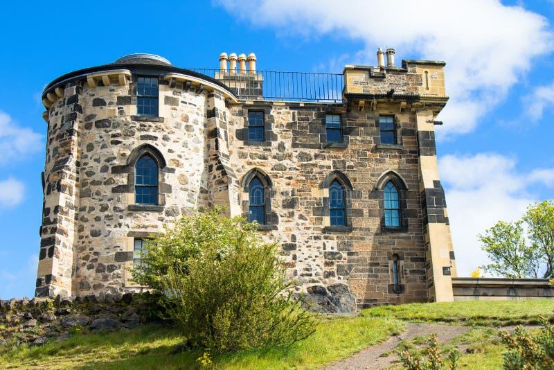 Vieil observatoire en colline de Calton photos stock