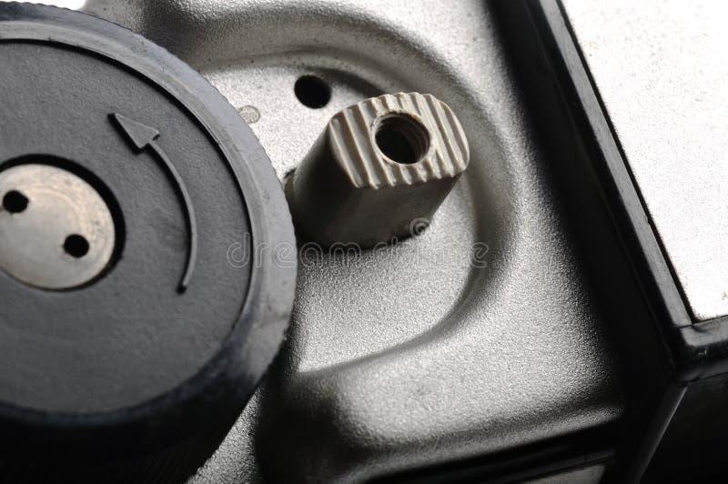 Vieil obturateur de caméra compact de film photographie stock