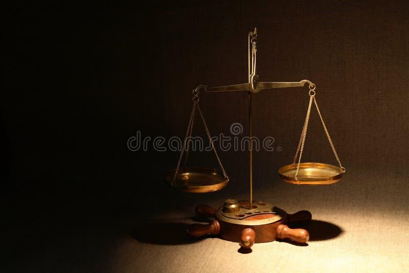 Vieille échelle de poids photographie stock libre de droits