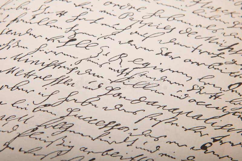 Vieille écriture, leter de vintage images libres de droits