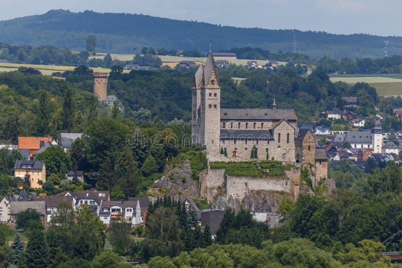 Vieille église catholique de basilique dans Dietkirchen, près de Limbourg photographie stock