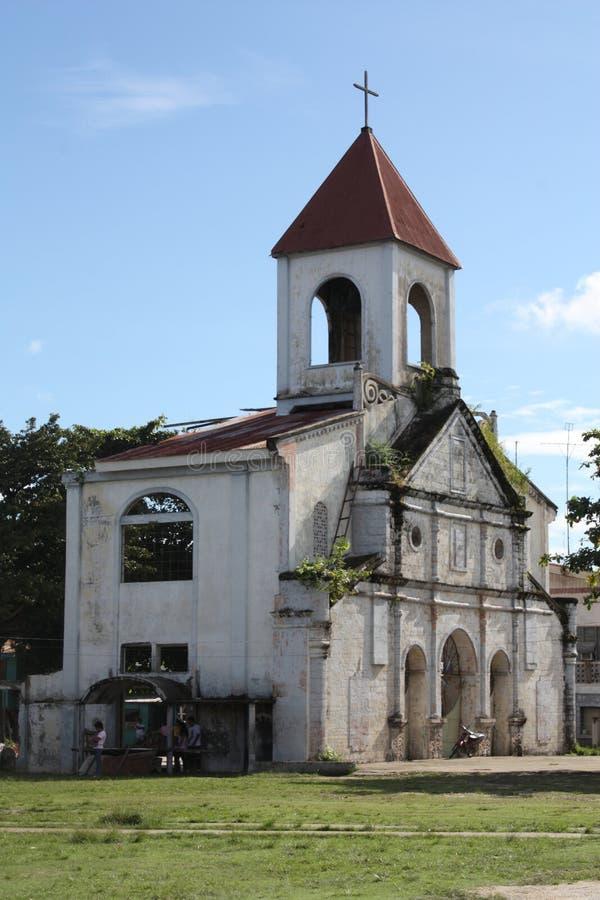 Vieille église dans Moalboal, province de Cebu, Philippines image libre de droits