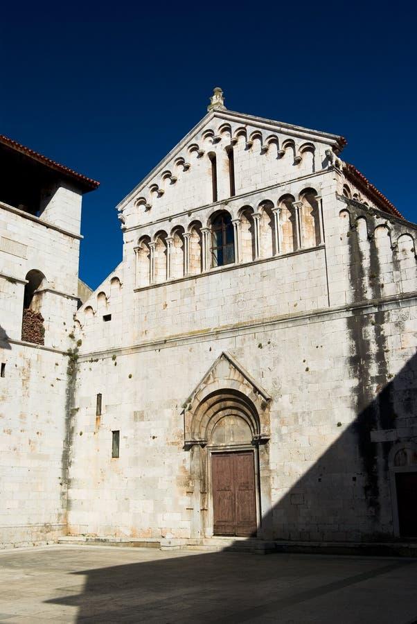Vieille église dans Zadar image stock