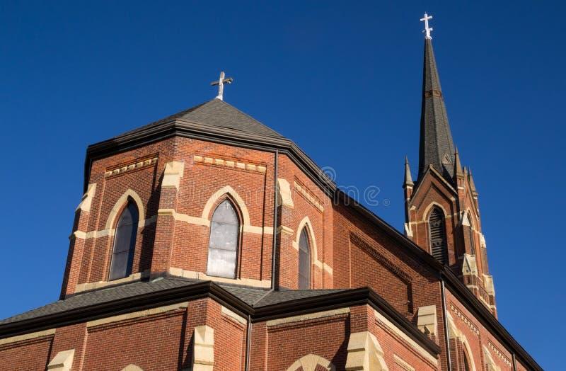 Vieille église de Midwest photographie stock libre de droits