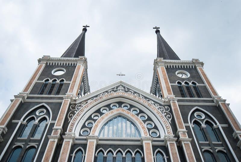 Vieille église de Roman Catholic Christianity dans la province de chantaburi photographie stock