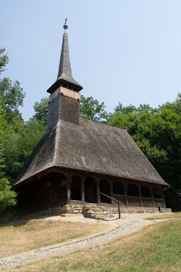 Vieille église en bois orthodoxe image stock