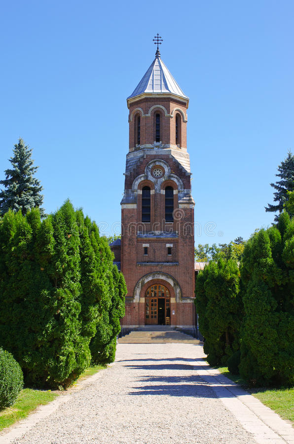 Vieille église en Curtea de Arges, Roumanie photo stock