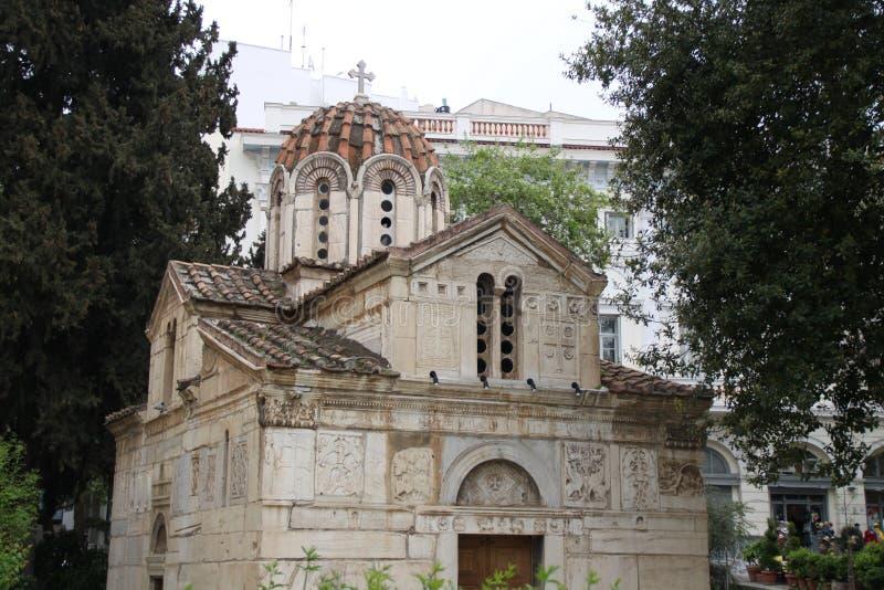 Vieille église grecque photographie stock
