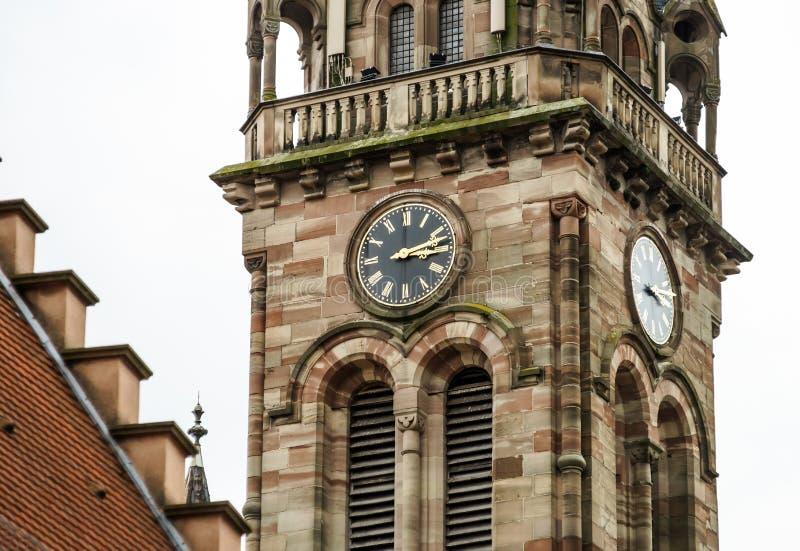 Vieille église médiévale en Alsace image stock
