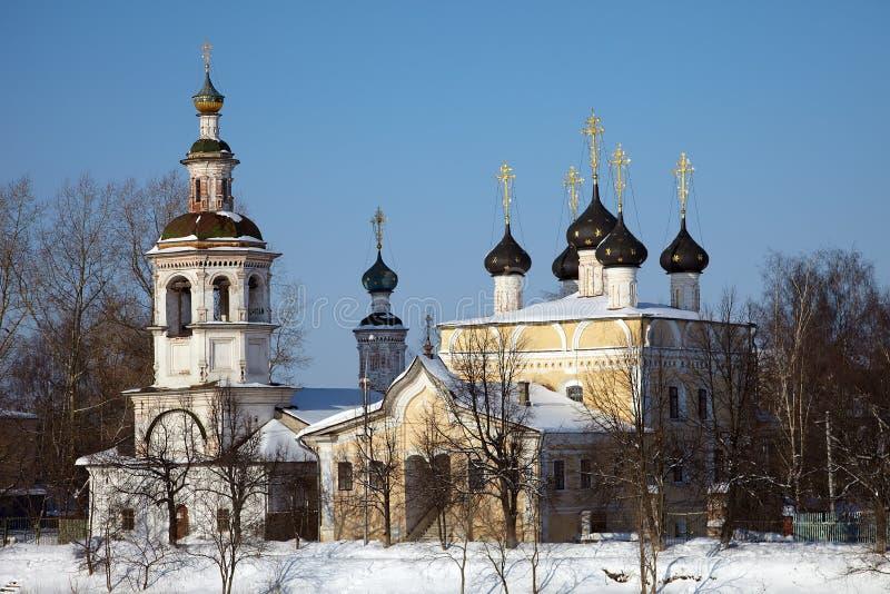 Vieille église orthodoxe en hiver, Vologda, Russie image libre de droits