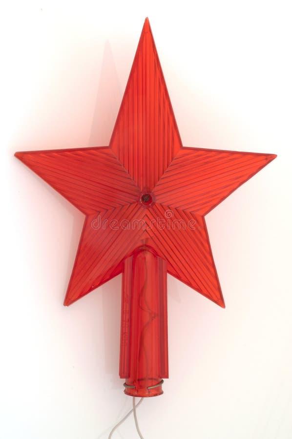 Vieille étoile rouge d'URSS photographie stock libre de droits