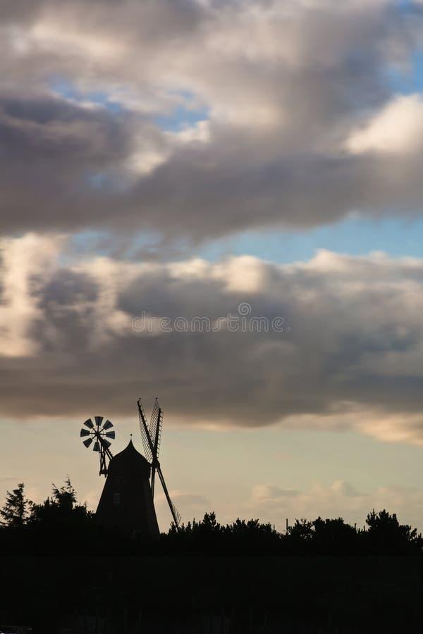 Vieille île de moulin de vent de Fanoe au Danemark photo libre de droits