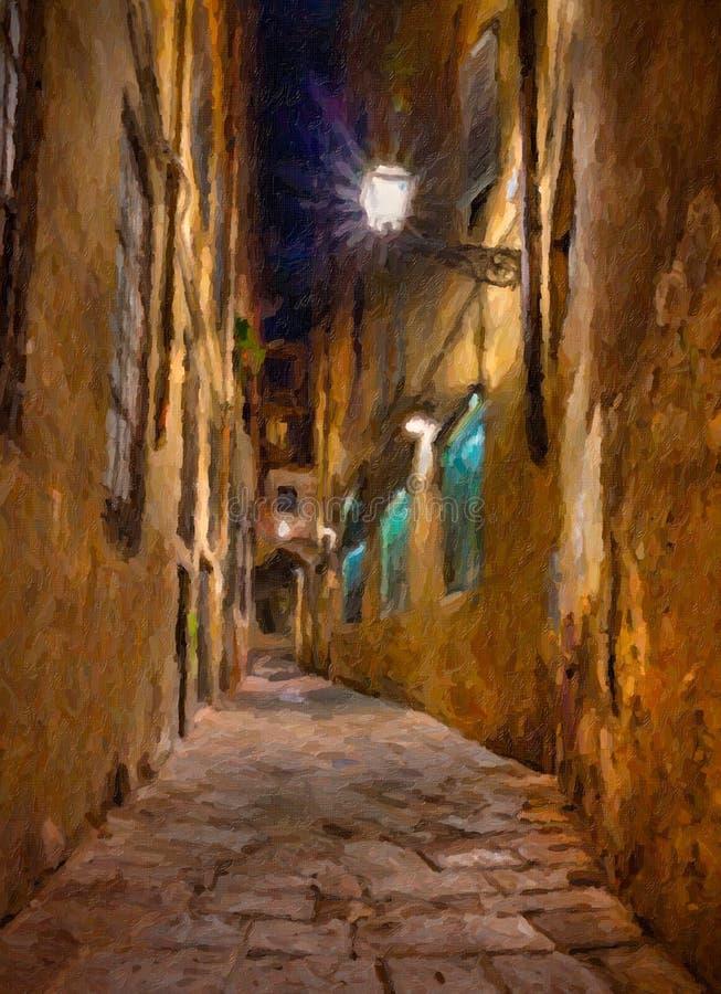 Vieille allée à Florence illustration libre de droits