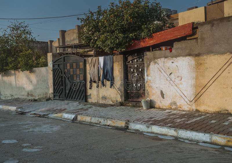 Vieille allée en Irak image libre de droits