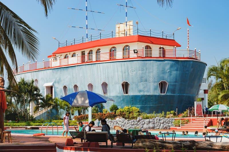 Vieille ancre de Byke dans Goa, Inde image libre de droits