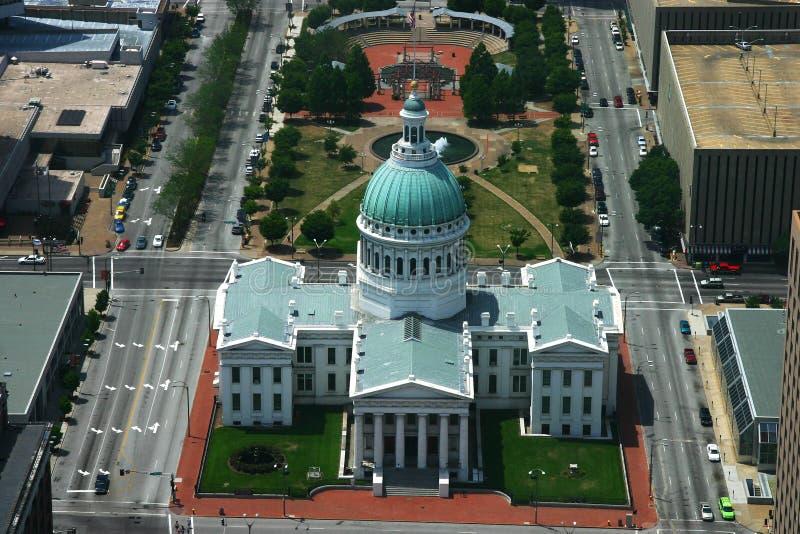 Vieille antenne de tribunal de St Louis images libres de droits