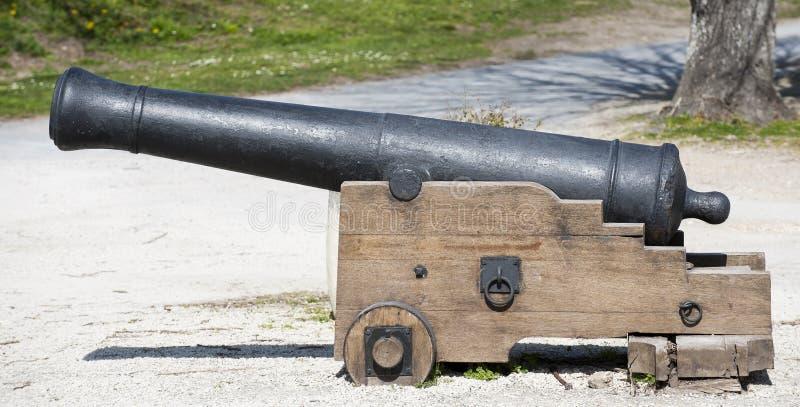 Vieille antiquité, petit canon de guerre civile de vintage photo libre de droits