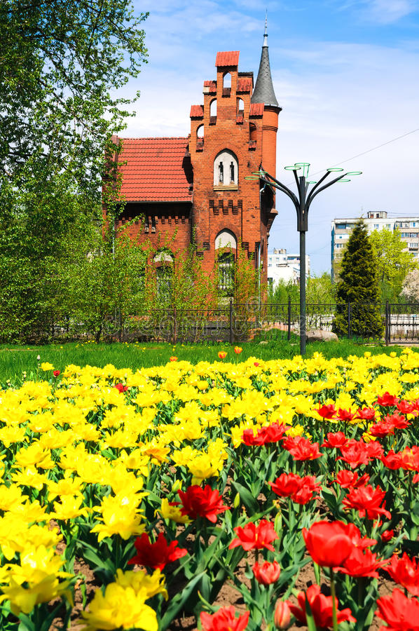 Vieille architecture allemande à Kaliningrad photo stock