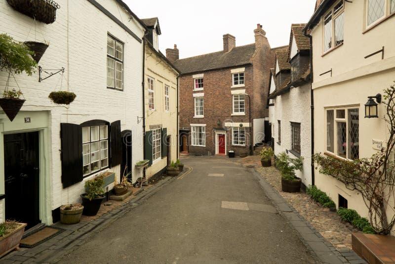 Vieille architecture anglaise sur Cartway, Bridgnorth images stock
