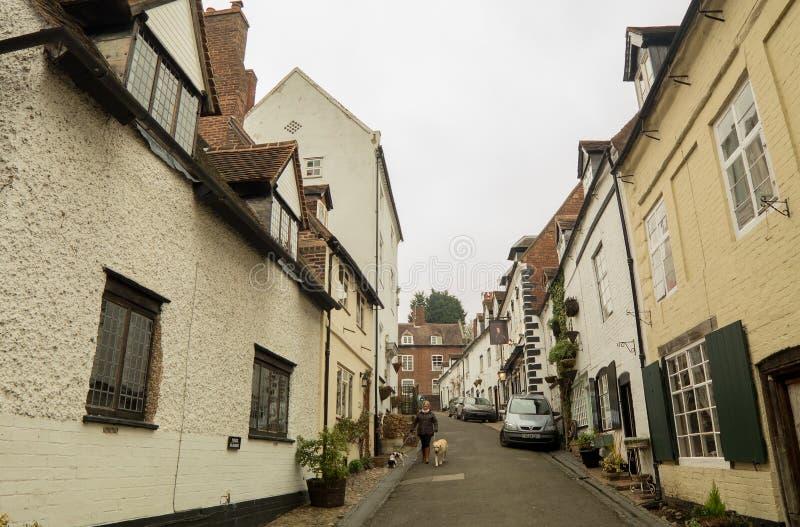 Vieille architecture anglaise sur Cartway, Bridgnorth photo libre de droits
