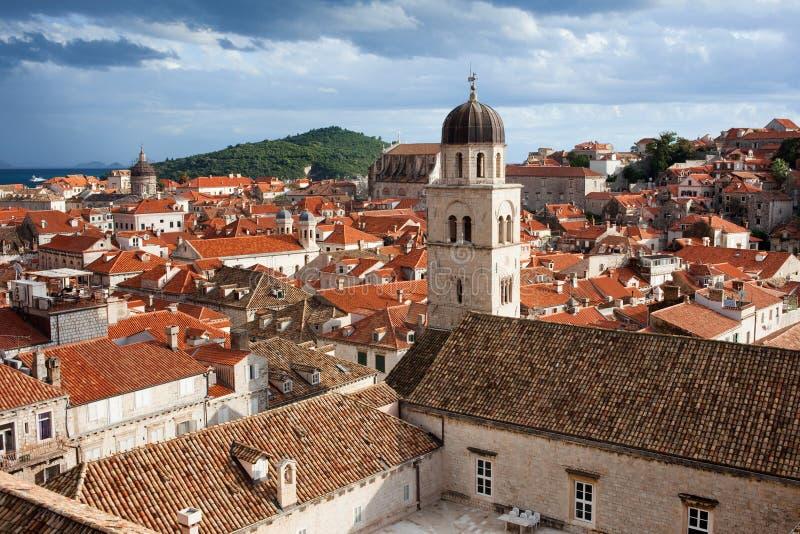 Vieille architecture de ville de Dubrovnik photo libre de droits