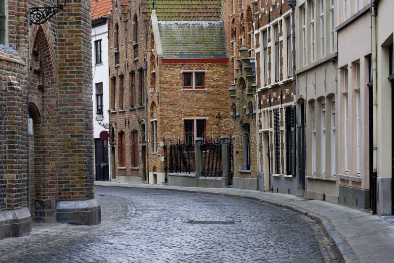 Vieille architecture historique de Bruges photo stock