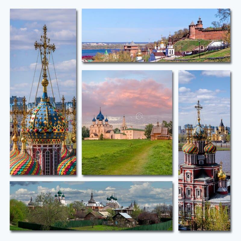 Vieille architecture russe de collage photographie stock libre de droits