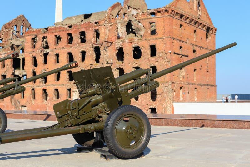 Vieille arme à feu de combat verte de la grande guerre patriotique photo libre de droits
