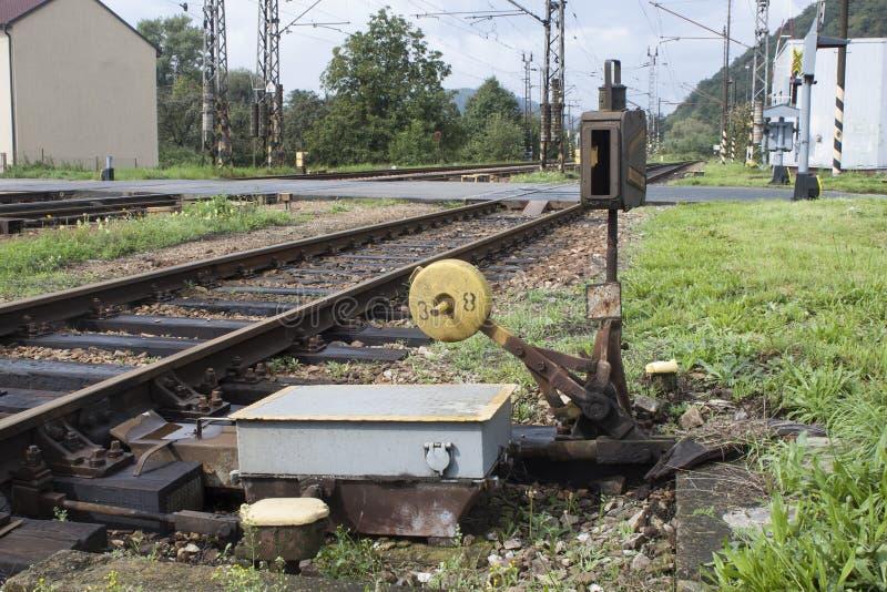 Vieille assemblée ferroviaire manuelle images stock