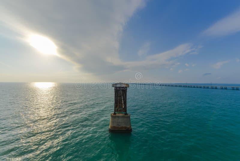 Vieille Bahia Honda Rail Bridge images libres de droits