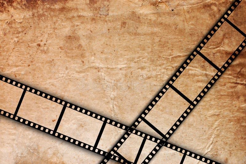 Vieille bande de film sur un fond grunge de cru photo libre de droits